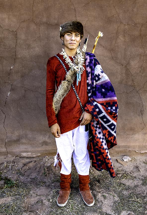 Zeke dressed in navajo clothing he made.jpg