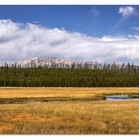 Gallatin Mountain Range in Yellowstone