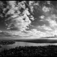 Drone-Sunset-61-Pano Bw